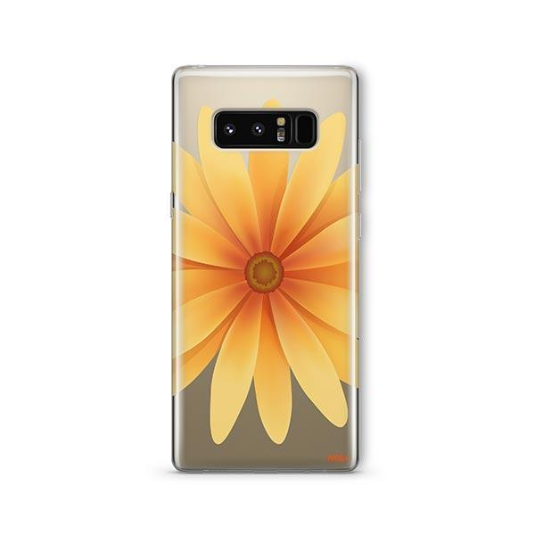 Yellow Daisy - Samsung Galaxy Note 8 Case Clear
