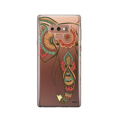 Colored Tribal Elephant -  Samsung Galaxy Note 9 Case Clear