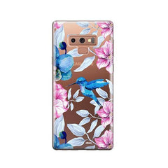 Colored Vintage Hummingbird -  Samsung Galaxy Note 9 Case Clear