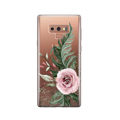Dusty Pink Rose - Samsung Galaxy Note 9 Case Clear