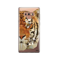 Geometric Tiger -  Samsung Galaxy Note 9 Case Clear