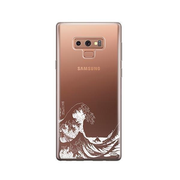 Kanagawa Wave - Samsung Galaxy Note 9 Case Clear