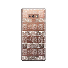 Henna Lotus Floral Elephant -  Samsung Galaxy Note 9 Case Clear