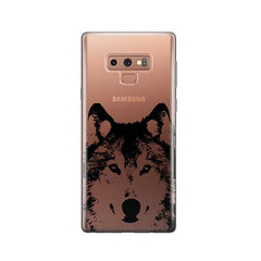 Henna Wolf -  Samsung Galaxy Note 9 Case Clear