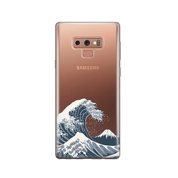 Japanese Wave - Samsung Galaxy Note 9 Case Clear