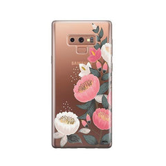 Laurel Floral - Samsung Galaxy Note 9 Case Clear