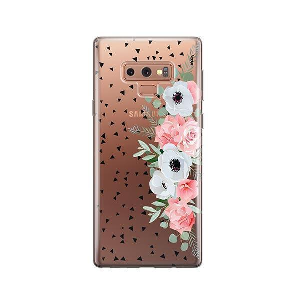 Anemone Rose - Samsung Galaxy Note 9 Case Clear