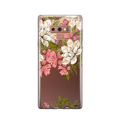 Angela Floral - Samsung Galaxy Note 9 Case Clear