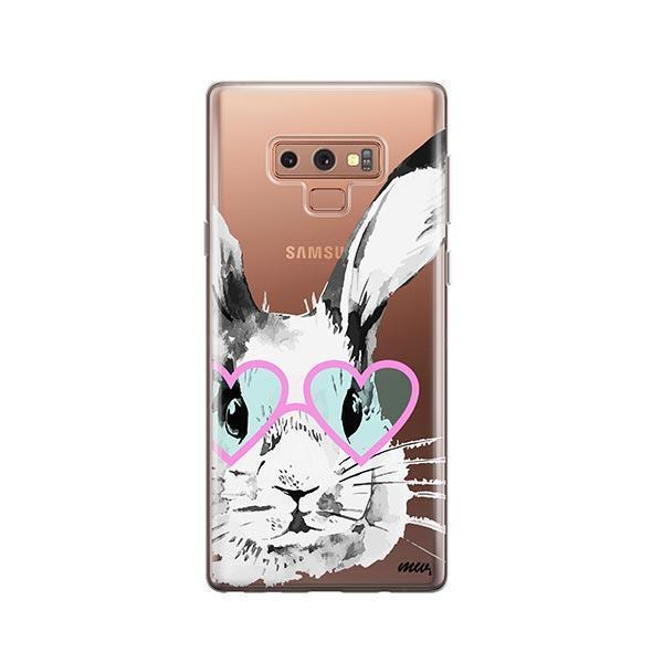 Beverly Hills Bunny -  Samsung Galaxy Note 9 Case Clear