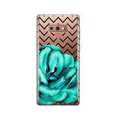 Blue Camelia - Samsung Galaxy Note 9 Case Clear