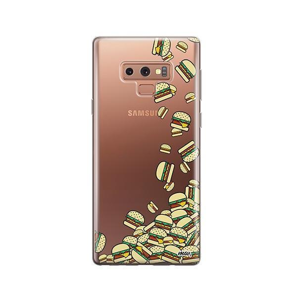 Burger Stuck - Samsung Galaxy Note 9 Case Clear