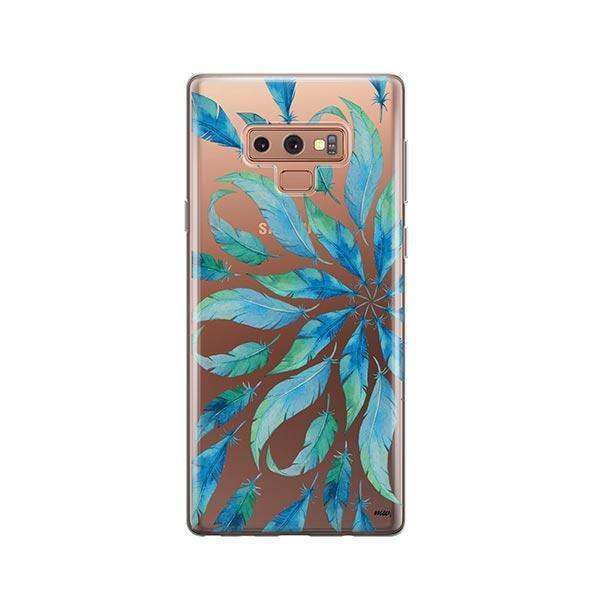 Burst of Feathers - Samsung Galaxy Note 9 Case Clear