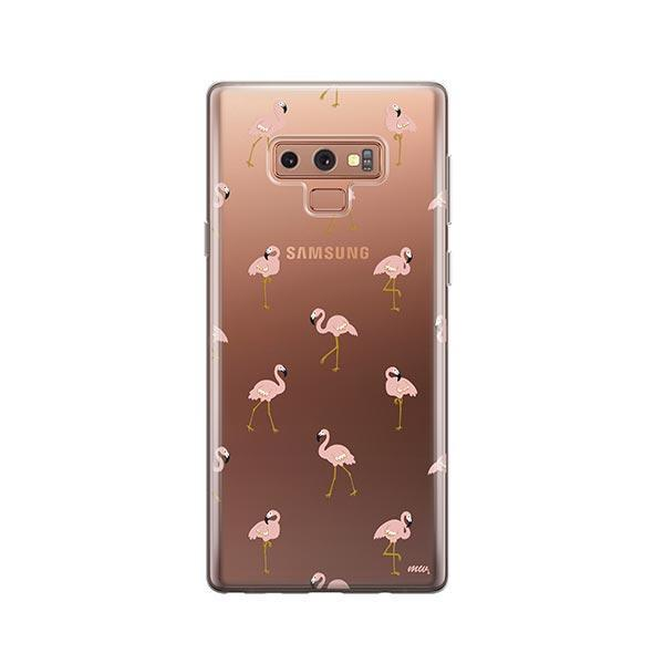 Chillin Flamingo -  Samsung Galaxy Note 9 Case Clear