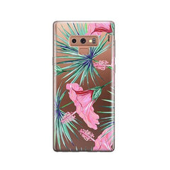 Exotic Hibuscus - Samsung Galaxy Note 9 Case Clear