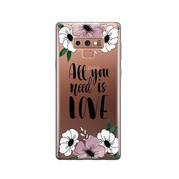 All You Need is Love - Samsung Galaxy Note 9 Case Clear