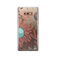Floral Patch - Samsung Galaxy Note 9 Case Clear