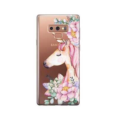 Floral Unicorn - Samsung Clear Case