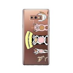 Friends Not Food -  Samsung Galaxy Note 9 Case Clear