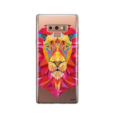 Geometric Lion -  Samsung Galaxy Note 9 Case Clear