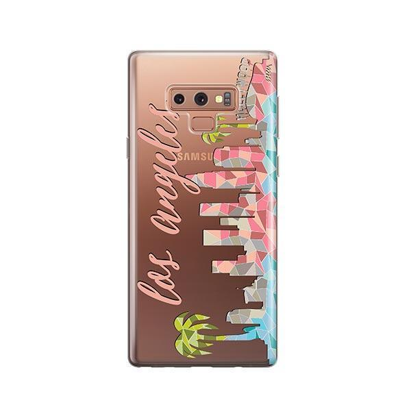 Geometric Los Angeles - Samsung Galaxy Note 9 Case Clear