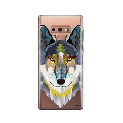 Geometric Wolf -  Samsung Galaxy Note 9 Case Clear