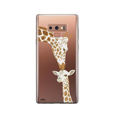 Giraffe Love -  Samsung Galaxy Note 9 Case Clear