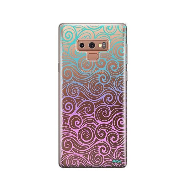 Gradient Wave - Samsung Galaxy Note 9 Case Clear