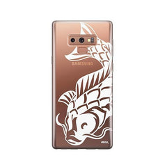 Henna Koi Fish -  Samsung Galaxy Note 9 Case Clear