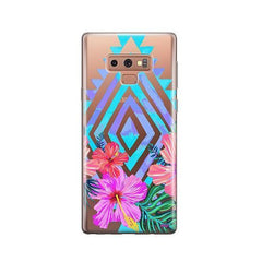 Navajo Hibiscus - Samsung Galaxy Note 9 Case Clear