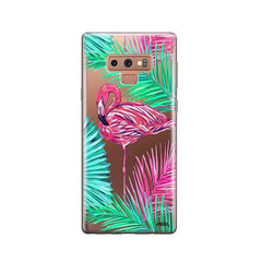 Neon Flamingo -  Samsung Galaxy Note 9 Case Clear