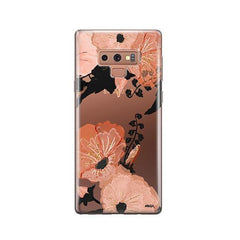 Peachy Floral - Samsung Galaxy Note 9 Case Clear