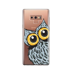Peeking Owl -  Samsung Galaxy Note 9 Case Clear