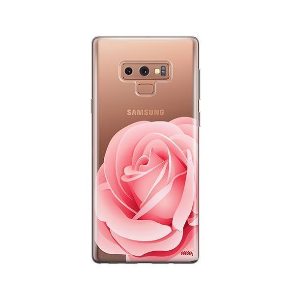 Pink Rose - Samsung Galaxy Note 9 Case Clear
