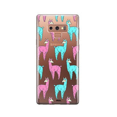 Poppin Llama -  Samsung Galaxy Note 9 Case Clear