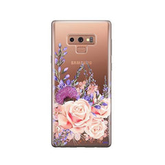 Purple Botanica - Samsung Galaxy Note 9 Case Clear