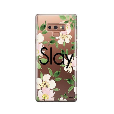 Slay with Flowers - Samsung Clear Case