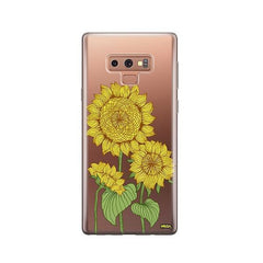 Sunny Sunflower - Samsung Galaxy Note 9 Case Clear