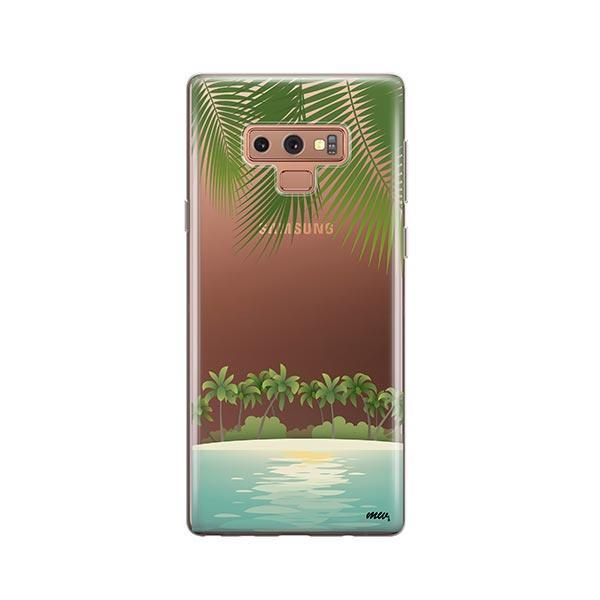 Tropical Beach - Samsung Galaxy Note 9 Case Clear