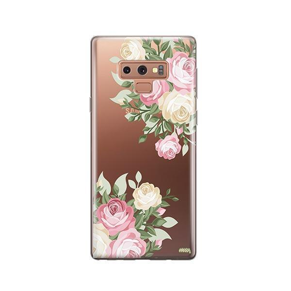Vintage Roses - Samsung Galaxy Note 9 Case Clear