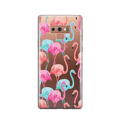 Watercolor Flamingo -  Samsung Galaxy Note 9 Case Clear