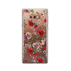 Watercolor Floral Pattern - Samsung Galaxy Note 9 Case Clear