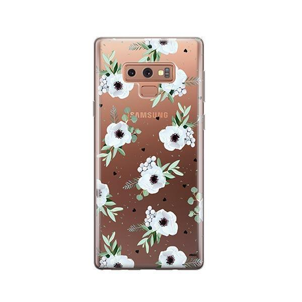 White Blossom - Samsung Galaxy Note 9 Case Clear