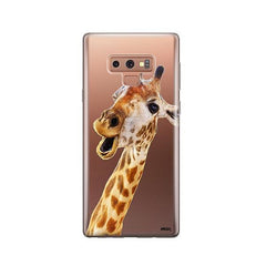 Whoa Giraffe -  Samsung Galaxy Note 9 Case Clear