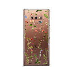 Wildflower - Samsung Galaxy Note 9 Case Clear