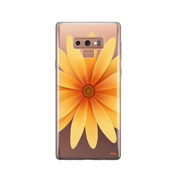 Yellow Daisy - Samsung Galaxy Note 9 Case Clear