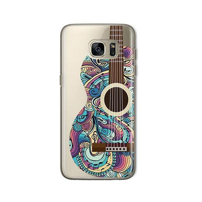 Henna Abstract Guitar - Samsung Clear Case