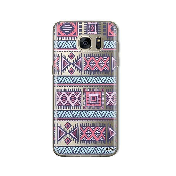 Colored Aztec - Samsung Galaxy S7 Case Clear