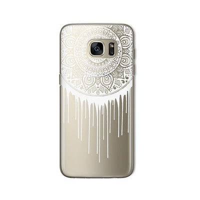 Henna Dripping Mandala Dreamcatcher - Samsung Clear Case