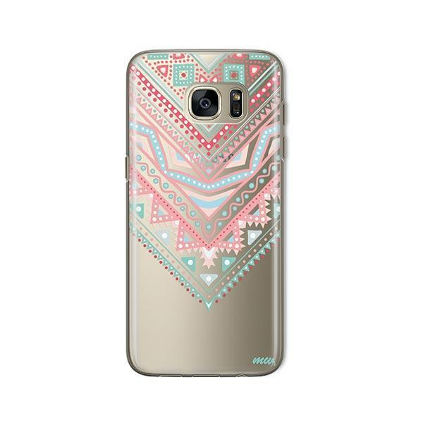 Pastel Aztec Triangle - Samsung Galaxy S7 Case Clear