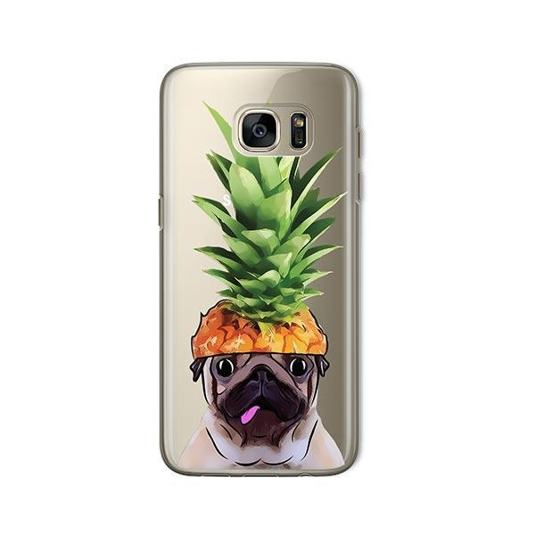 Pineapple Pug -  Samsung Galaxy S7  Clear Case